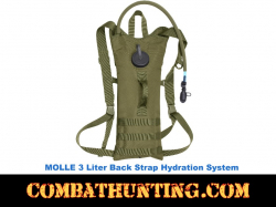 3 Liter Olive Drab Back Hydration Systems