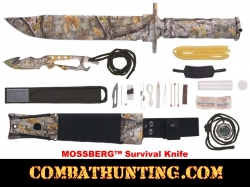 "Mossberg Survival Knife With 7-3/4"" Camo Blade"