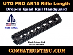 UTG PRO Model 4/AR15 Rifle Length Drop-in Quad Rail 12""