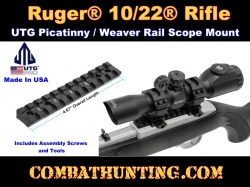 Ruger� 10/22� Picatinny / Weaver Rail Mount UTG PRO Made in USA