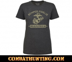 Marines Semper Fidelis Retro Women's T-shirt