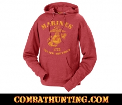Marines The Few The Proud Retro Hoodie Hooded Sweatshirt