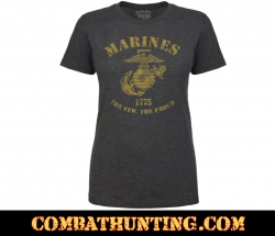 Marines The Few The Proud Retro Women's USMC T-shirt