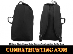 Small Heavy Duty Canvas Top Loading Duffel Bag Military Style