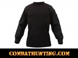 Black Military FR NYCO Combat Shirt