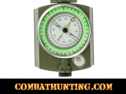 Military Lensatic Sighting Compass and Belt Pouch