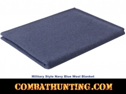 Military Style Navy Blue Wool Blanket