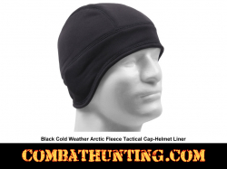 Arctic Fleece Tactical Cap/Helmet Liner Black