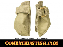Molle Compatible Flashlight Pouch Holster Tan/FDE