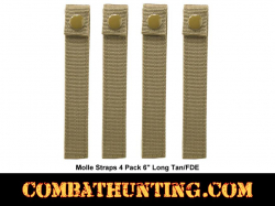 "Molle Straps 4 Pack 6"" Long Tan/FDE"