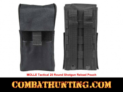 Molle Tactical Shotgun Shell Pouch Black