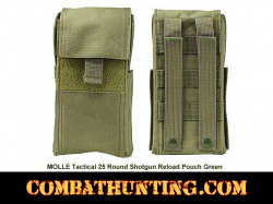 Molle Tactical Shotgun Shell Pouch Military Green