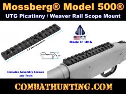 Picatinny Schiene 140mm lang für Mossberg 500 590 gewölbte Boden Jagd 21mm