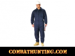 Navy Blue Insulated Coveralls / Overalls