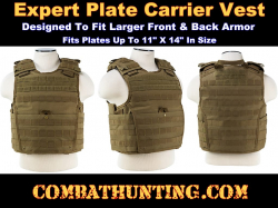 Ncstar Expert Plate Carrier Vest Tan / Flat Dark Earth