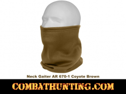 Rothco ECWCS Poly Neck Gaiter AR 670-1 Coyote Brown
