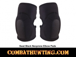 Synthetic SWAT Black Tactical Elbow Pads
