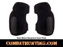 Synthetic SWAT Black Tactical Knee Pads