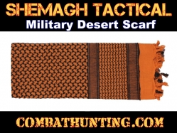 Orange Shemagh Tactical Military Desert Scarf