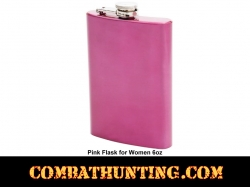 Womens 8oz Stainless Steel Pink Flask