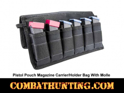 Pistol Pouch Magazine Carrier/Holder Bag With Molle