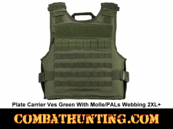 Plate Carrier Vest Green With Molle/PALs Webbing 2XL+