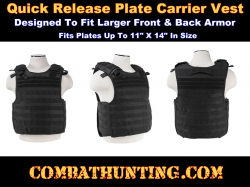 Molle Plate Carrier Vest Quick Release Black