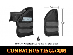 Pocket Holster Black Ambidextrous For .22 .25