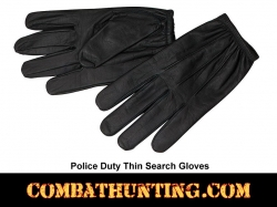 Police Duty Search Gloves Ulta Thin For Pat Downs