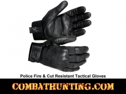 Police Fire & Cut Resistant Tactical Gloves