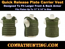 Quick Release Molle Plate Carrier Vest Green