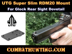 UTG Super Slim RDM20 Mount for Glock Rear Sight Dovetail