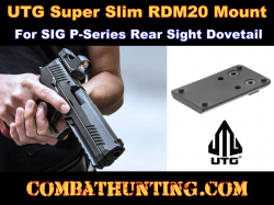 UTG Super Slim RDM20 Mount, SIG P-Series Rear Sight Dovetail