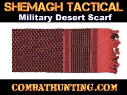Red & Black Shemagh Tactical Military Desert Scarf