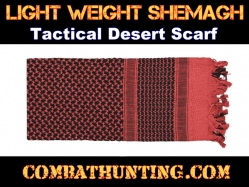 Red & Black Lightweight Shemagh Tactical Desert Scarf