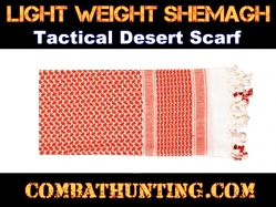 Red & White Lightweight Shemagh Tactical Desert Scarf