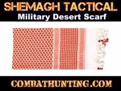 Red & White Shemagh Tactical Military Desert Scarf