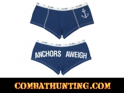 Womens Blue Anchors Aweigh Booty Shorts