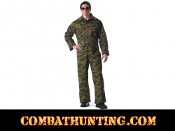 Coveralls / Overalls In Woodland Digital Camo