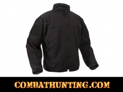 Rothco Covert Ops Light Weight Soft Shell Jacket Black