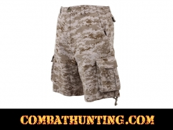 Rothco Subdued Desert Digital Camo Vintage Infantry Utility Shorts