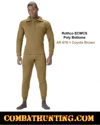 Rothco ECWCS Poly Bottoms AR 670-1 Coyote Brown