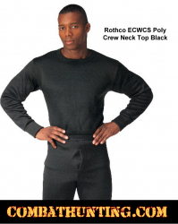 Rothco ECWCS Poly Crew Neck Top Shirt Black