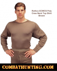 Rothco ECWCS Poly Crew Neck Top Shirt Brown