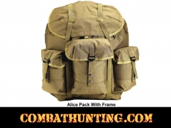 G.I. Type Enhanced Medium Alice Pack With Frame Olive Drab