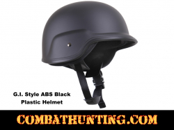 GI Style Abs Plastic Helmet Black Small/Medium