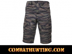 Rothco Long Length Tiger Stripe Camo BDU Shorts