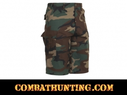 Rothco Long Length Woodland Camo BDU Shorts