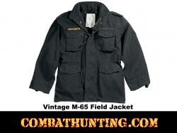 Rothco Vintage M-65 Field Jacket Black