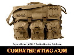 MOLLE Tactical Laptop Briefcase Bag Coyote Brown